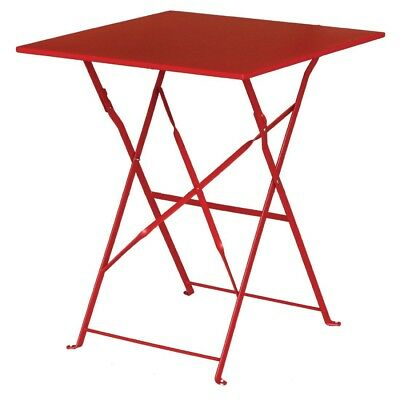 Bolero Red Square Pavement Style Steel Frame Table Restaurant Cafe Furniture