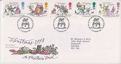 Gb Royal Mail Fdc First Day Cover 1993 A Christmas Carol Stamp Set Bureau Pmk