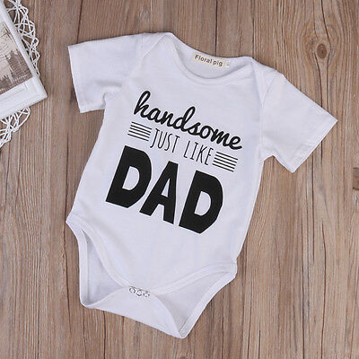 US Baby Bodysuit Cotton Romper Infant Boy Girl Jumpsuit Kids Clothes Outfit