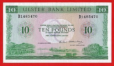 Ulster Bank Limited Belfast  £10  Pound 1982 to 1988  XF  Banknote