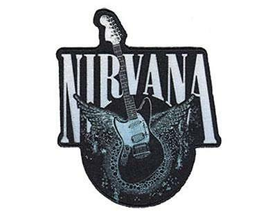 Official Licensed - Nirvana - Jag-Stang Guitar Sew/iron On Patch Grunge Cobain