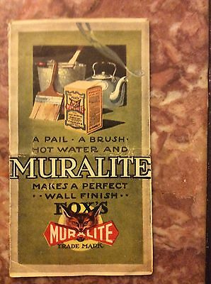 1930 Muralite Color Chart for Paints and Colors, A Pail-A Brush-Hot Water Makes