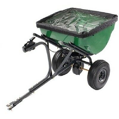 Tow Behind Spreader 100 Pound Seed Fertilizer Tractor Lawn Cultivation