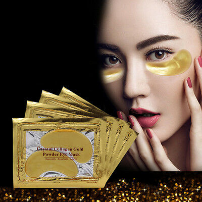 20 Pairs Gold Moisturizing Skin Care Gel Collagen EYE Hydrating Face Masks New