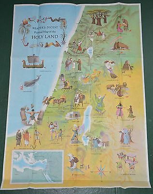 National Geographic of Map of the Holy Land ARTIST DRAWN ROBERT J. LEE