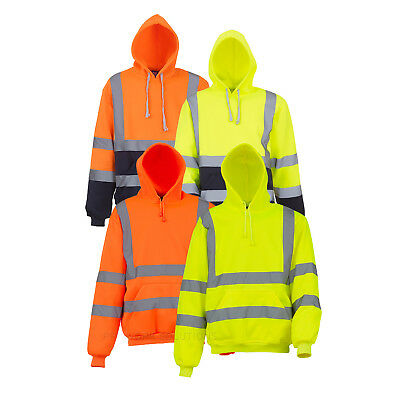 Yoko Hi-Vis Pull-Over Hoodie Soft Feel Fabric High Viz Sweatshirt (HVK05)