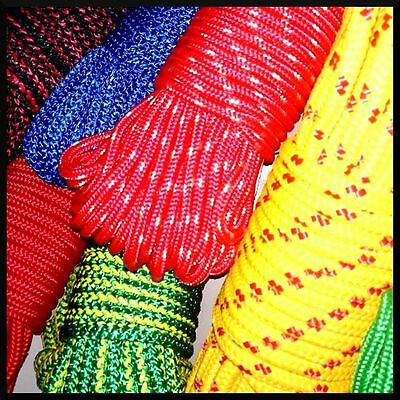 12mm PolyPropylene Rope Braided Cord Wire Twine Strand Strong String Line Sport