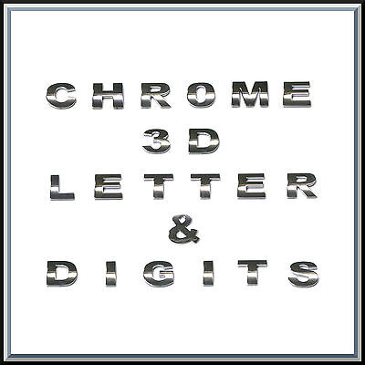 3D Chrome Self Adhesive Letters Digits Numbers Signs Emblem Badge Decal Stickers