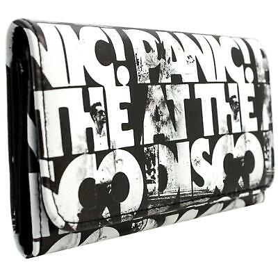 New Official Panic! At The Disco Brendon Urie Black Id & Card Bi-Fold Purse