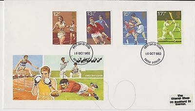 Gb Qeii Fdc Philart 1980 Sport First Day Cover