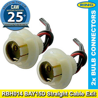 12v 24v Bulb Holder BAY15D Twin Connector 335 209 810 with Wires Ring RBH014 2x