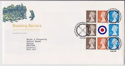 Gb Royal Mail Fdc First Day Cover 1998 Breaking Barriers Prestige Pane Bureau