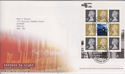 Gb Royal Mail Fdc First Day Cover 2004 Letters By Night Prestige Pane London Pmk
