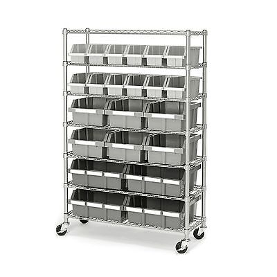 Storage Rack With Wheels On Industrial Bins Mobile Commercial Kitchen Shelving