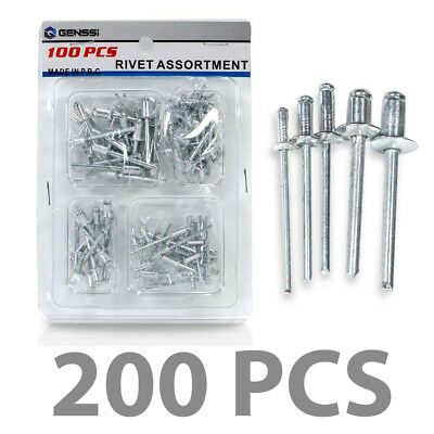 100 ALL Aluminum POP Rivet Open End 3/16 1/8 3/32