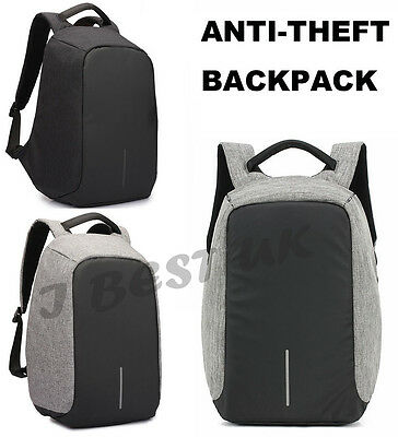 Anti Theft Backpack Waterproof with USB Port Laptop Notebook School Travel Bag