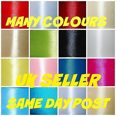 Double Sided Satin Ribbon *  Cut Lenght 6mm 12mm 25mm 38mm 50mm  CHEAPEST