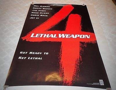 Lethal Weapon 4 Original One Sheet Style Movie Poster - Mel Gibson 1998