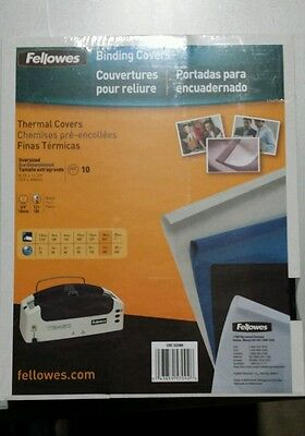 """Fellowes Thermal Binding Presentation Covers Letter 3/4"""" 60 Sheets 10 Pack Bla"""