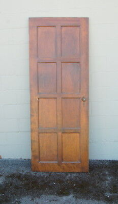 Original Antique 8 Panel Birch Door Slab, Architectural Salvage, Clost, Pantry