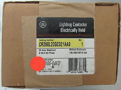 Ge Cr260L20Gc021Aao 30 Amp 120V Coil Lighting Contactor New In The Box