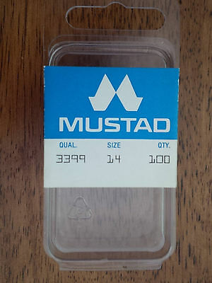 Mustad 3399, Size 14, Package of 100, Vintage Fly Tying Hooks