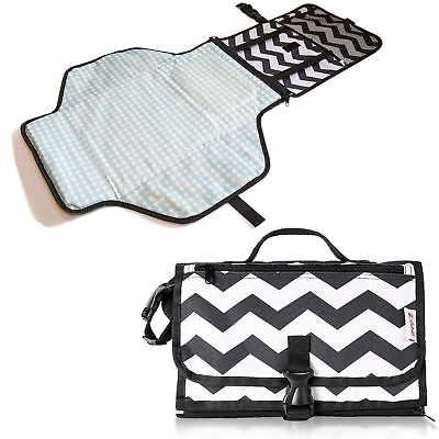 CutieB Portable Changing Pad - Diaper Clutch with Waterproof Change Mat f... NEW