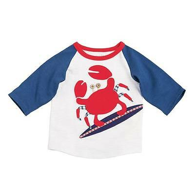 Mud Pie Boathouse Baby Crab T-Shirt  12-18M, 24M-2T/3T, 4T/5T - DISCONTINUED