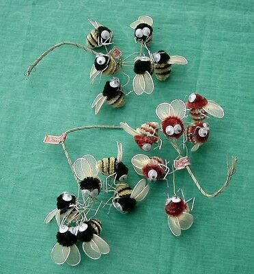 Vintage Lot of 18  Google Eye Chenille Bumble Bee s  Made in Japan Craft