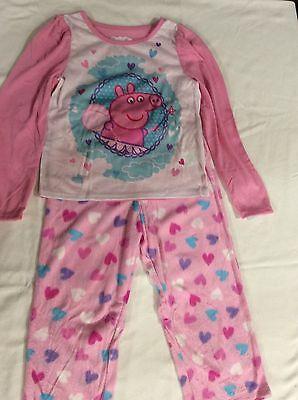 Peppa Pig Sleepware Pajamas PJs, pink, sizes 3T or 5T, 2 piece set NWT