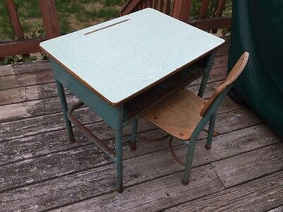 Vintage School Desk With Matching Chair!