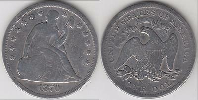1870 Seated Liberty Dollar Vg Details