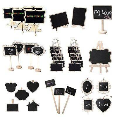 New Mini Wooden Chalkboard Blackboard Message Table Number Wedding Party Decor