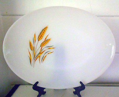 Vintage Pyrex, Milk Glass  Wheat Platter - Great Condition