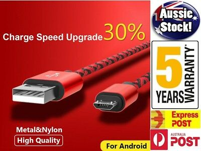 FAST CHARGING Android Charger Micro USB Cable Premium Braided Samsung Galaxy 7 6