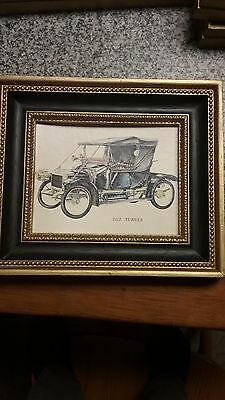 1974 scafa tornabene litho classic automobiles. set of 4 b.s.a. Turner, Panhard