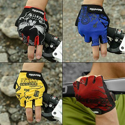 Shockproof Sport Gloves Breathable Cycling Bike Riding Half Finger Gloves A^
