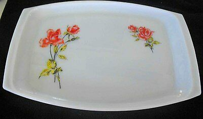 Vintage Pyrex, Milk Glass JAJ 'Wild Rose' Platter Excellent condition