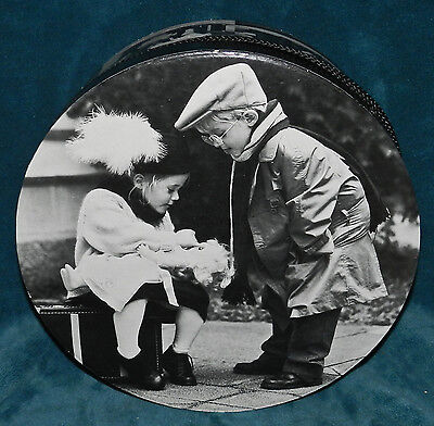 Vintage Style Hat Box! Black & White Photos Of Children In Vintage Clothes