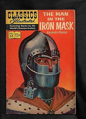 Classics Illustrated #54 Vg+  Hrn167  (The Man In The Iron Mask) Alexandre Dumas