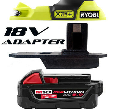 M18 Milwaukee Jigsaw Multi tool 18v Battery Adapter to Ryobi 18v One+ Tools