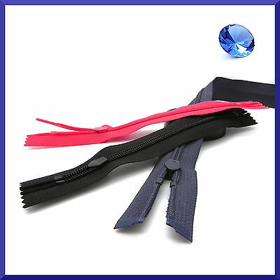 Waterproof Coil Zips ❋ Nylon Open Ended Zippers ❋ 3 Colours ❋ HQ Made in Europe