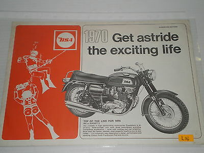 BSA A50  A65  A75  B25  B44  1970  Sales Brochure #L36