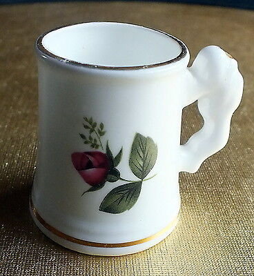 English fine bone china miniature Tankard Blue Waters giftware collectable