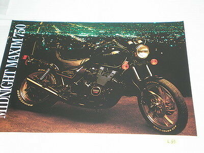 YAMAHA Midnight Maxim 750  1983  Sales Brochure #L58