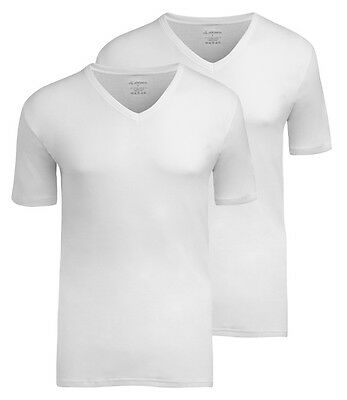 Jockey Mens Modern Classic V-Neck T-Shirt 2-Pack White
