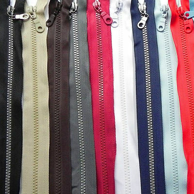 14 Colours 11 Sizes ❋ Chunky Teeth Zips Plastic Open Ended Zippers ❋ Heavy Duty