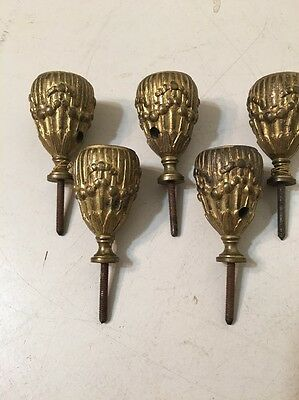 Antique Brass Or Bronze Candelabra Candle Holders Likely French Lot Of 5