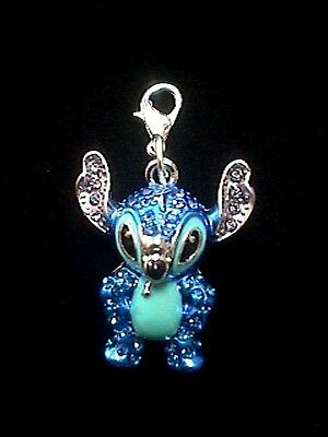 Disney Crystal Covered 3-D Stitch  Clip-On Charm EXCLUSIVE
