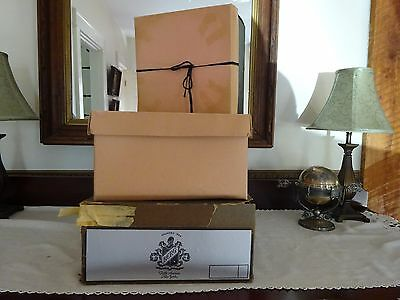 Antique Cardboard Paper  Hat Box LOT Fifth Avenue New York & Rhode Island